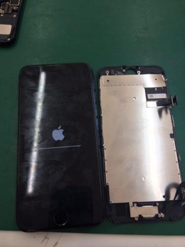 iPhone7 ホームボタン破損 リンゴのまま