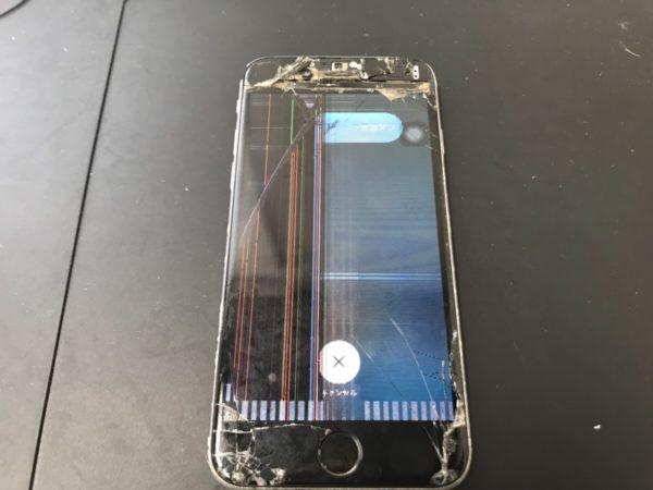 iPhone6sの液晶が壊れて左半分が見えなくなってしまった
