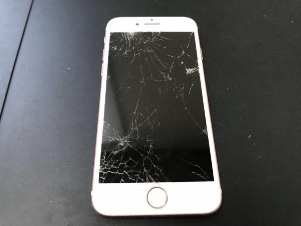iPhone7の画面割れ修理と初期化作業まで代行しました