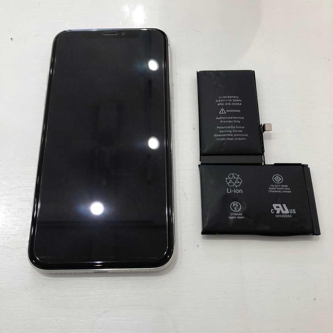 iPhoneXバッテリー交換-出水店