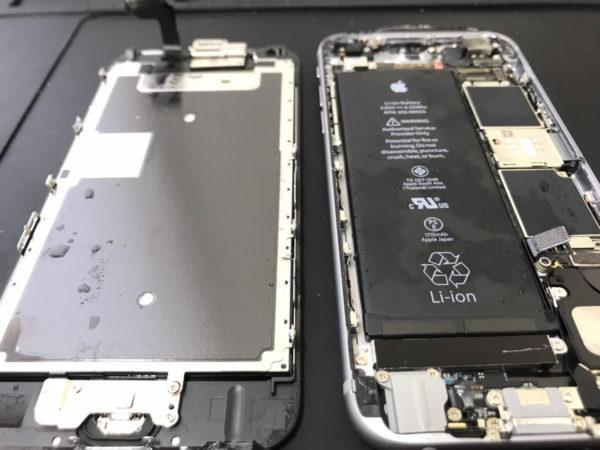 洗濯機で水没させたiPhone6sの復旧修理依頼がありました。