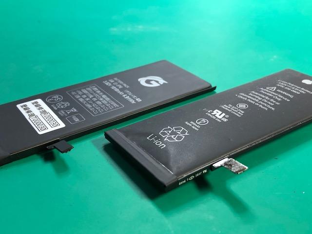 劣化したバッテリー。膨張にご注意ください