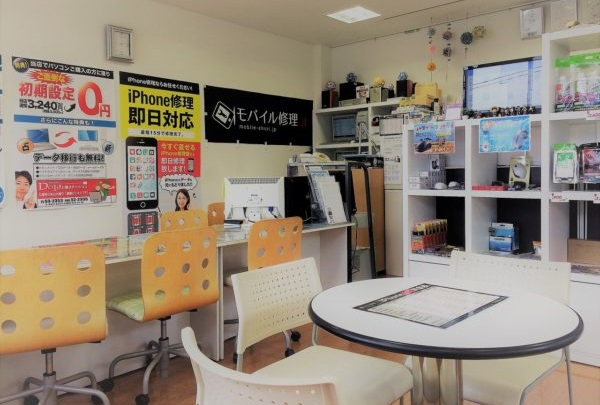 iPhone修理専門-モバイル修理.jp 七尾店 店内