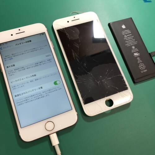 iPhone画面修理をして快適に♪ 岡山市マルナカ高屋店
