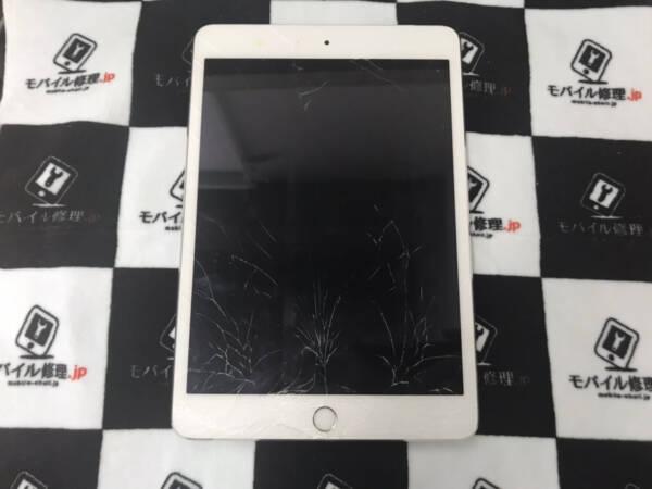 iPad mini3のガラス割れ修理も綺麗に仕上げて元通り