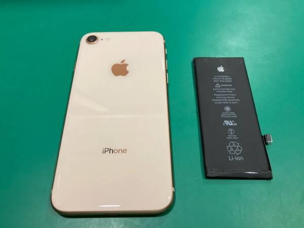 [バッテリー交換] 発売から4年が経ったiPhone8
