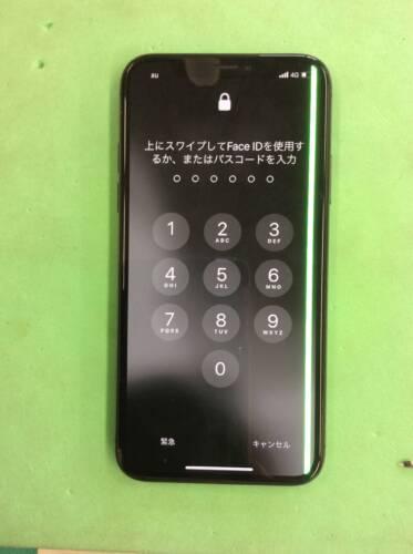 iPhoneXS 落下により液晶に不具合