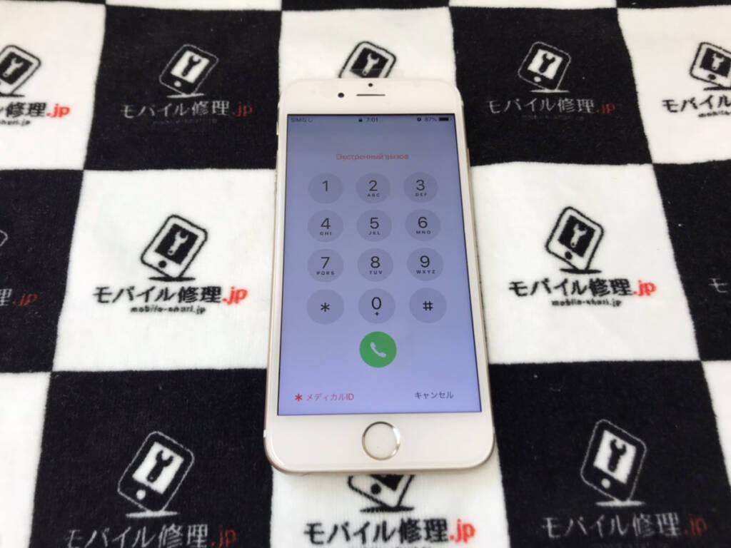 画面交換で復旧したiPhone6